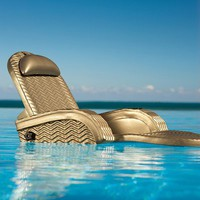 Extra-large Floating Blue Chaise - Bronze - Frontgate