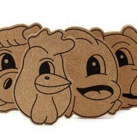 Cork Friends Trivets