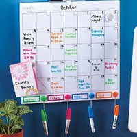 Color-Coded Dry Erase Calendar Set