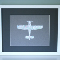 Airplane Map Transportation Cut Out Artwork For by littleredflag