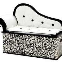 Levels Of Discovery Wild Side Bench Seat with Storage Black/Ivory