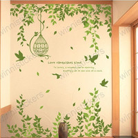 Vinyl Wall Decal Nature Design Tree Wall Decals Wall by WinneDEGIN