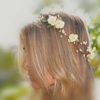 Flower Hair Wreath Bohemian Flower Crown by ShepherdoftheSea