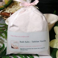 Dead Sea Salt Bath Dendritic Salt Epsom Soak Tahitian Vanilla 1 Pound | PinksPleasures - Bath &amp; Beauty on ArtFire
