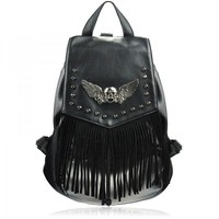 Skull Head and Wings Backpack  Faboutique