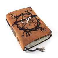 Necronomicon, Journal, Leather, Handmade, Suede, Diary