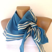 lovely blue scarf , women all days accessory for spring summer seasons , cotton scarf trends 2013