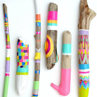 Painted Sticks  6 Piece Collection Art  Photo by bonjourfrenchie