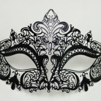 Amazon.com: Halloween Bendable Laser Cut Black Mask: Toys & Games
