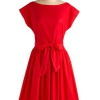 Red-y or Not Dress | Mod Retro Vintage Printed Dresses | ModCloth.com