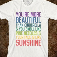 You're More Beautiful Bridesmaids Quote (Tee) - Ladies & Gentlewoman - Skreened T-shirts, Organic Shirts, Hoodies, Kids Tees, Baby One-Pieces and Tote Bags