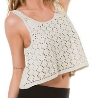 ROXY LOOK AND SEE CROCHET CROP TANK | Swell.com