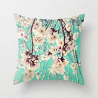 Spring Showers Throw Pillow by Lisa Argyropoulos | Society6