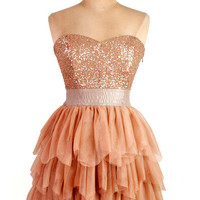 Charming Sweetheart mini pleated sparkle prom dress