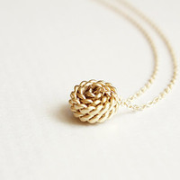 knot necklace - dainty 14kt gold plated jewelry
