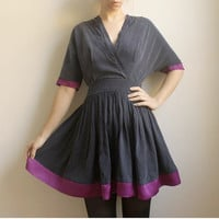 lillianTencel/Rayon and silk V Neck Dress by Leanimal on Etsy