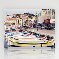 Boats in Cassis Harbor iPad Case by Around the Island (Robin Epstein) | Society6