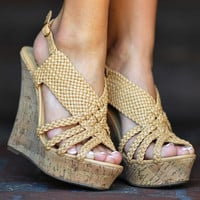 Through Thick & Think Wedges: Camel | Hope's