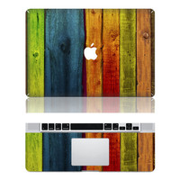 Wood Stripe MacBook Pro cover decals Mac Pro cover stickers MacBook pro decal laptop stickers MacBook air cover stickers for  pro/air/ ipad