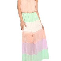 Strapless Pastel Dress | Studio 706 Boutique