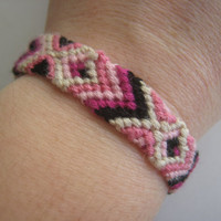 BLACK RASPBERRY SAMPLE Friendship Bracelet  Wish by greenyogini