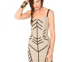 Bone Bustier Dress