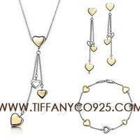 Shopping Cheap Multi heart Drop Pendant Set At Tiffanyco925.com - Discount Tiffany Setting
