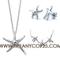 Shopping Cheap Elsa Peretti Starfish Pendant Set in Sterling Silver At Tiffanyco925.com - Discount Tiffany Setting