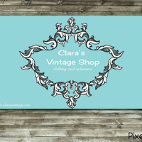Premade Business Card Design Baroque Frame by pixelbar on Etsy