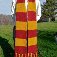 Gryffindor House Scarf by trophies on Etsy