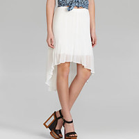 I.N. San Francisco Hi-Low Pleated Skirt