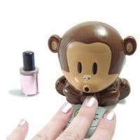 Cute Monkey Shaped Manicure Nail Polish Blower Dryer: Beauty