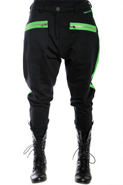 Black with Lime Green Nappytabs Harem from threaderstyle.com