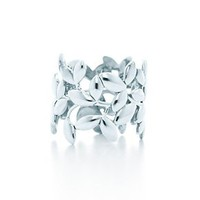 Tiffany & Co. -  Paloma Picasso® Olive Leaf band ring in sterling silver.