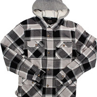 Women&#x27;s Oakley Barnacle Jacket w/ Hood Grey Plaid Size Large