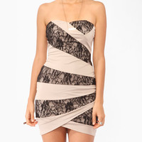 Lace Panel Tube Dress | FOREVER 21 - 2000047261