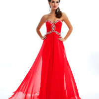 Mac Duggal Prom 2013 - Strapless Cherry Gown With Sequin - Unique Vintage - Prom dresses, retro dresses, retro swimsuits.