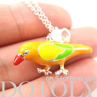 Cute Colorful Parakeet Bird Parrot Animal Charm Necklace