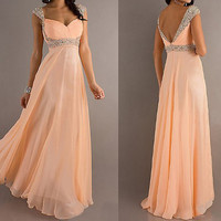 sexy cheap prom dresses, cheap bridesmaid dress, long prom dress, formal dress, RE091