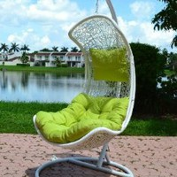 Clove - Balance Curve Porch Swing Chair - Model - Y9091WT: Home & Kitchen