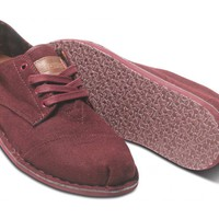 Burgundy Wool Men&#x27;s Desert Oxfords | TOMS.com