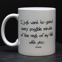 Hunger Games Coffee Mug  Peeta Quote by DailyGrinder on Etsy