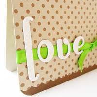 Handmade Love Card Love by MissTanDesigns on Etsy