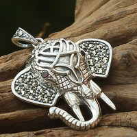 925 Sterling Silver Elephant Pendant