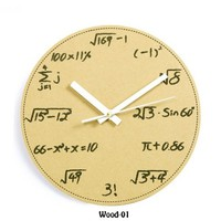accessoryinlove  Math and Science Pop Quiz Wall Clock