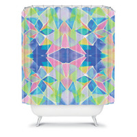 DENY Designs Home Accessories | Amy Sia Chroma Blue Shower Curtain