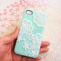 Handmade  Lace  Candy Color Case For iPhone