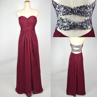 Cheap 2013 New Style Strapless Sweetheart with Beading Chiffon Prom Dresses