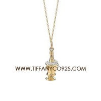 Shopping Cheap Tiffany and Co Champagne Bucket Charm Necklaces At Tiffanyco925.com - Discount Tiffany Necklaces