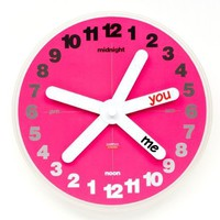 You &amp; Me Wall Clock